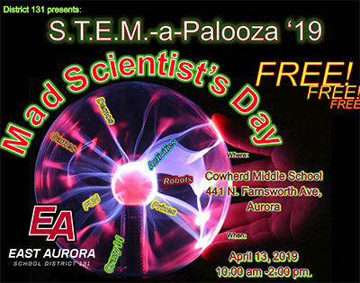 Students invited to free S.T.E.M.-A-PALOOZA event April 13